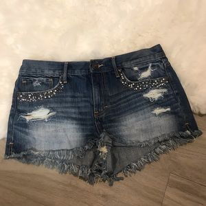 Abercrombie & Fitch Embellished Cutoff Shorts